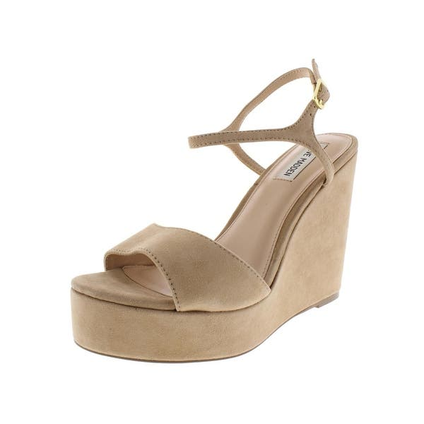 5308c576fcd Shop Steve Madden Womens Truce Wedge Sandals Padded Insole Open Toe ...
