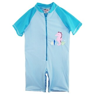 Sweet & Soft Toddler Girls Swimwear One Piece Seahorse Swimsuit Rashguard