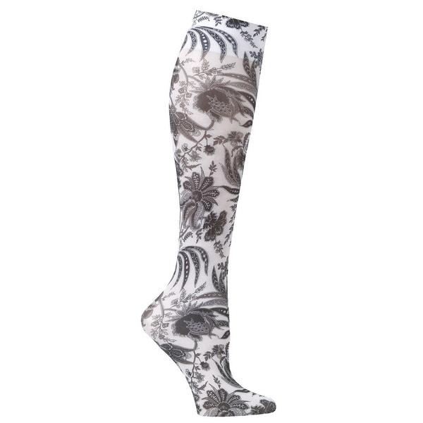 Celeste Stein Women's Mild Compression Knee High Stockings - Black Paris