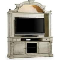 """Hooker Furniture 5403-55202 76"""" Wide Hardwood Media Center from the Sanctuary Collection - Vintage Chalked White - n/a"""
