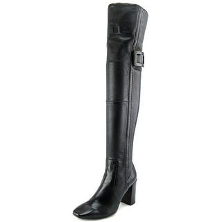 Roger Vivier Cuissarde Peppy T.85 Women Leather Black Over the Knee Boot