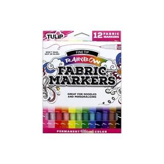 Tulip Fabric Marker Fine Tip Rainbow 12pc