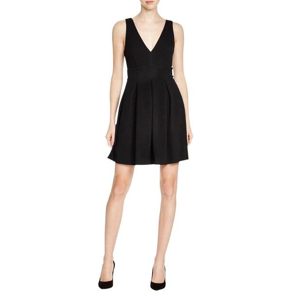 Aqua Womens Casual Dress Textured Solid