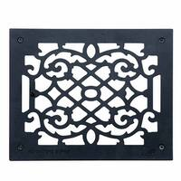 Heat Register Floor Vent Grate Cast Aluminum  9.5 x 11 3/8   Renovator's Supply