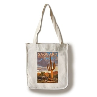 Saguaro National Park - Javelina - LP Artwork (100% Cotton Tote Bag - Reusable)