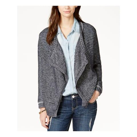 LUCKY BRAND Womens Blue Long Sleeve Open Cardigan Sweater Size S