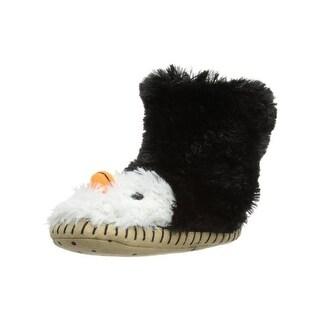 Hatley Girls Slouch-Slipper Penguin Novelty Slippers Children's Lined