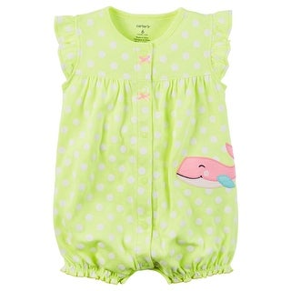 Carter's Baby Girls' Dotted Whale Snap Up Romper 6 Months