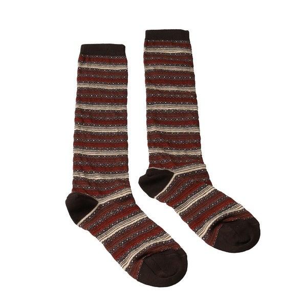 Missoni GM00CMD5220 0001 Red/Brown Knee Length Socks