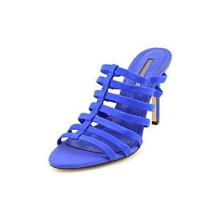 BCBGeneration Callie Women Peep-Toe Leather Blue Mules
