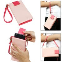 """JAVOedge Two Tone Pullout Style Wallet for Smarphones with Removable Wristlet (Fits up to 5.5"""" Screen)"""