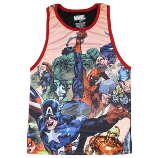 Marvel Comics Avengers Meeting Room Men's Tank Top Sleeveless Shirt Tee (2 options available)