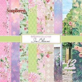 """Scrapberry's In Bloom Paper Pack 6""""X6"""" 12/Pkg-"""