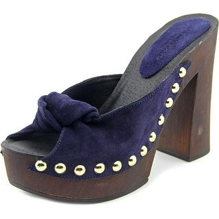 Charles David Hello Women Round Toe Suede Clogs