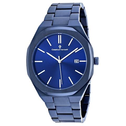 Christian Van Sant Men's Octavius Slim Blue Dial Watch - CV0526
