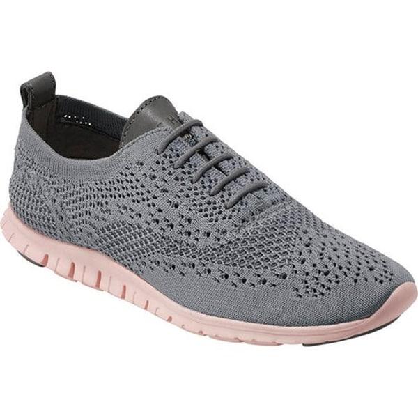 1e211046cb2c1 Cole Haan Women's ZEROGRAND Stitchlite Sneaker Ironstone/Leather/Tropical  Peach Knit