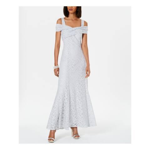 TAHARI Womens Gray Sleeveless Maxi Sheath Formal Dress Size 6