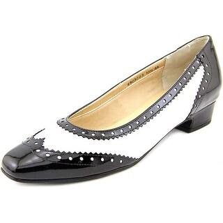 Mark Lemp By Walking Cradles Bradley Women N/S Square Toe Leather White Heels