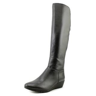 Bandolino Aliba Women Round Toe Synthetic Black Knee High Boot