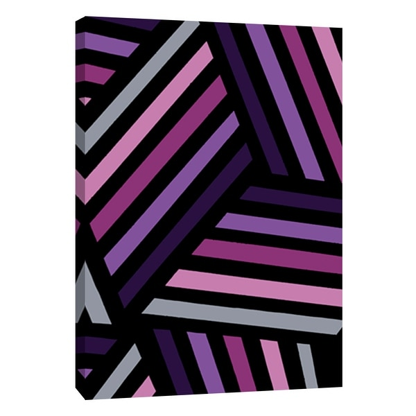 "PTM Images 9-108760 PTM Canvas Collection 10"" x 8"" - ""Monochrome Patterns 4 in Purple"" Giclee Abstract Art Print on Canvas"