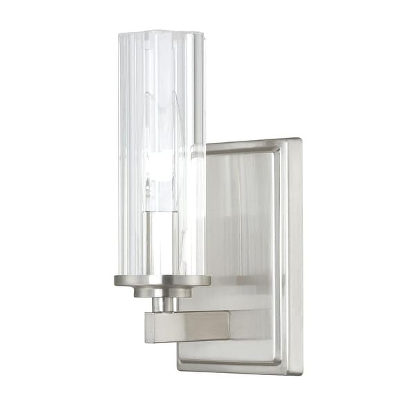 "Donny Osmond Home 8041-150 1 Light 9"" Tall ADA Compliant Bathroom Sconce from the Emery Collection - Brushed nickel"