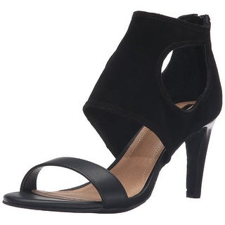 Tahari Women's TA-National Dress Sandal, Black, Size 8.0
