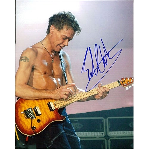 ced1e08be2eea Signed Van Halen Eddie 8x10 Photo autographed