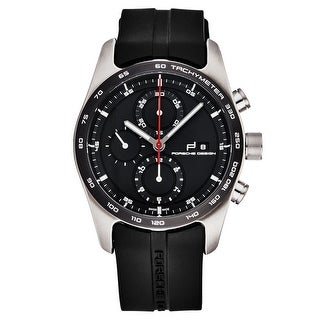 Link to Porsche Design Men's 6010.1.09.001.05.2 'Series 1 Sportive Titanium' Black Dial Black Rubber Strap Chronograph Automatic Watch Similar Items in Men's Watches