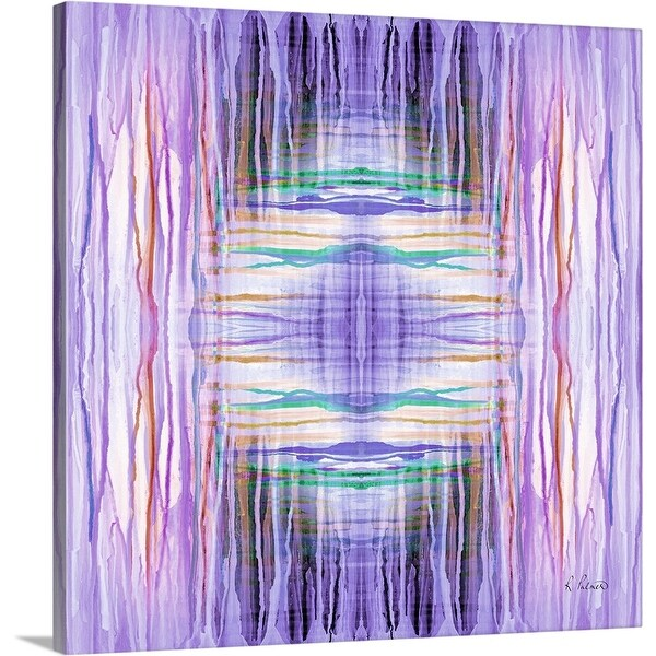 """Purple Drip Pattern II"" Canvas Wall Art"