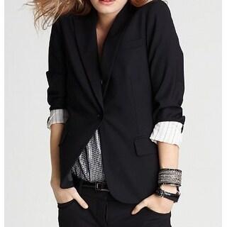Theory NEW Deep Black Womens Size 8 Three-Pocket One-Button Blazer
