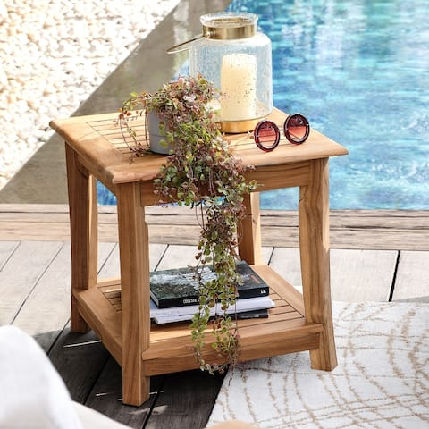 Chara Teak Patio Side Table by Havenside Home