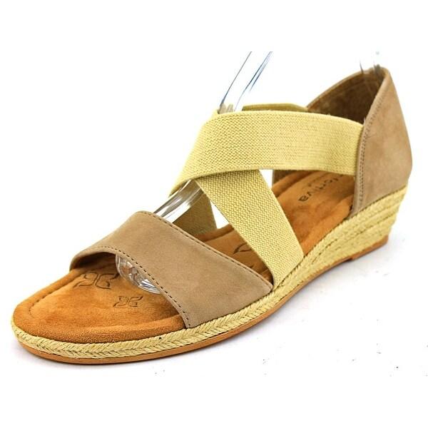 Comfortiva Brye Women W Open Toe Suede Wedge Sandal