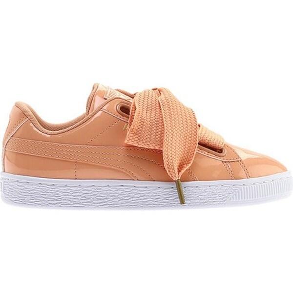 Shop PUMA Women's Basket Heart Patent Sneaker Dusty Coral