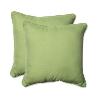 """Set of 2 Lime Tweed Square Throw Pillows 18.5"""""""