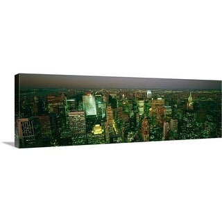 """Aerial view of a city, New York City, New York State,"" Canvas Wall Art"