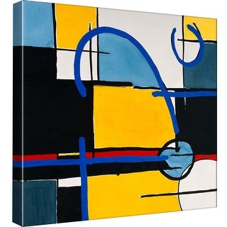 "PTM Images 9-97766  PTM Canvas Collection 12"" x 12"" - ""Composition Square 1"" Giclee Abstract Art Print on Canvas"