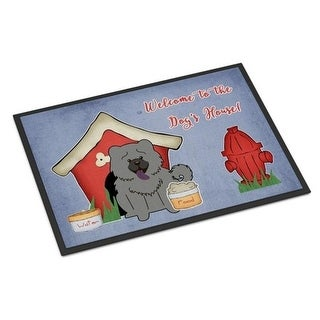 Carolines Treasures BB2893JMAT Dog House Collection Chow Chow Blue Indoor or Outdoor Mat 24 x 0.25 x 36 in.