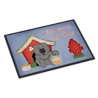 Carolines Treasures BB2893MAT Dog House Collection Chow Chow Blue Indoor or Outdoor Mat 18 x 0.25 x 27 in.