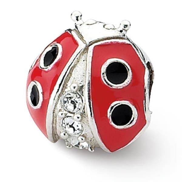 Sterling Silver Reflections Ladybug with Swarovski Elements Bead (4mm Diameter Hole)