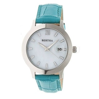 Bertha Eden Women's Quartz Watch, Genuine Leather Band, Luminous Hands