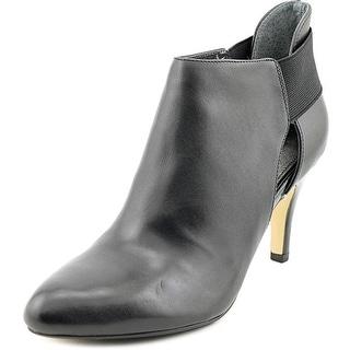 Adrienne Vittadini Tibbs Round Toe Leather Bootie