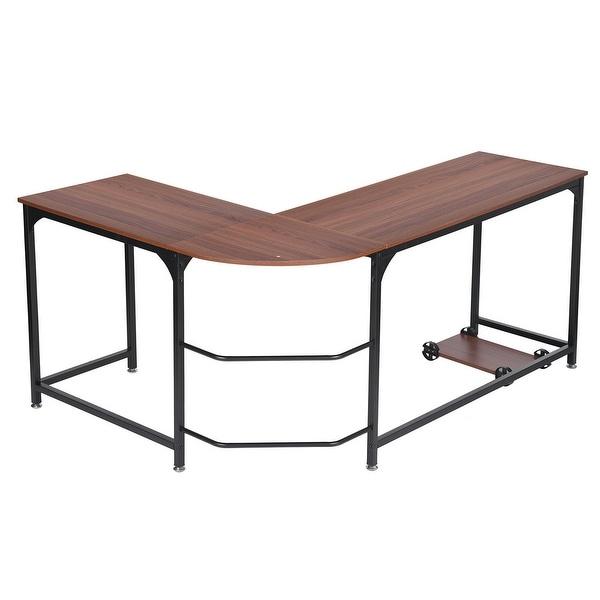 L Shaped Corner Desk Computer Workstation Home Office: Shop Small/Large Size L-Shape Corner Computer Desk Wood