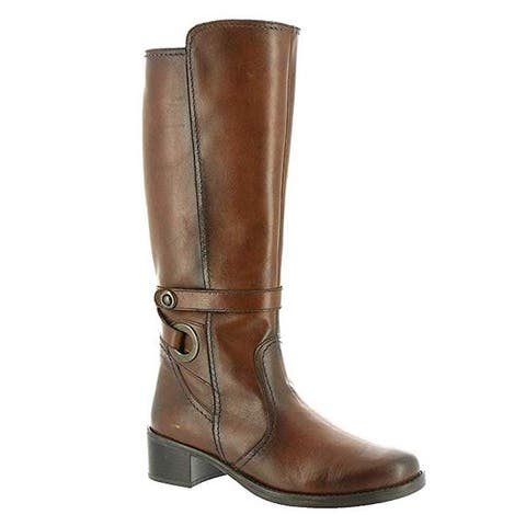 David Tate Womens Mona Lisa Leather Almond Toe Knee High Fashion Boots