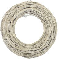 "12.5"" Glittered White Twig Artificial Christmas Wreath - Unlit"