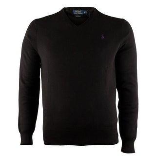 Polo Ralph Lauren NEW Black Mens Size Small S Pullover V-Neck Sweater