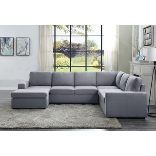 Copper Grove Caolan Light Grey Reversible Sectional Sofa Chaise