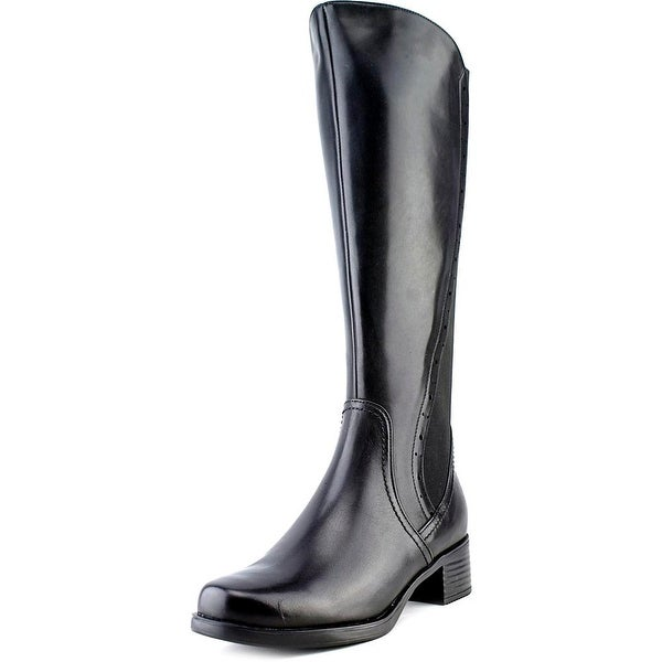 Blondo Lyzon Women Round Toe Leather Black Knee High Boot