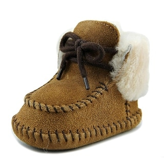 Ugg Australia Sparrow Infant  Round Toe Suede Tan Snow Boot