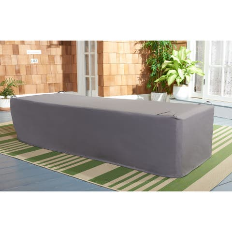 """Safavieh Outdoor Living Newport Lounge Chair Grey Cover - 25.4"""" W x 78.7"""" L x 17.7"""" H"""