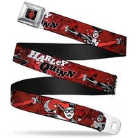 Harley Quinn Diamond Full Color Black Red Harley Quinn Poses Comic Book Seatbelt Belt